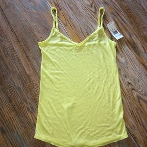 ROXY 50 rayon/50 poly yellow tank top/NWT